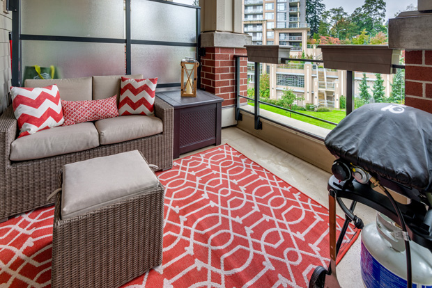 Curb appeal includes a great balcony or patio