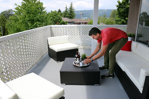 When getting ready for an open house, don't forget to make outdoor space inviting with a bit of staging.