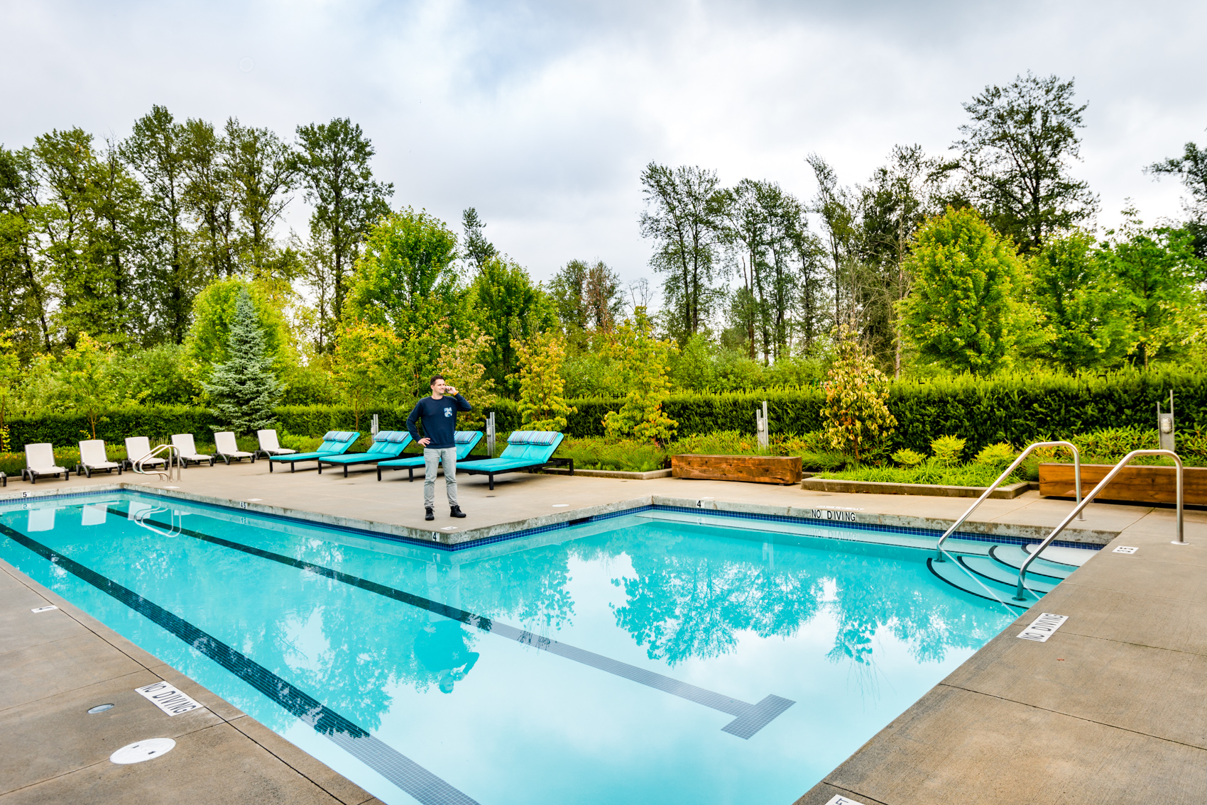 Water amenities like a pool often mean higher strata fees.