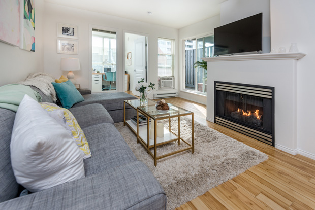 living room at 202-3939 Hastings St