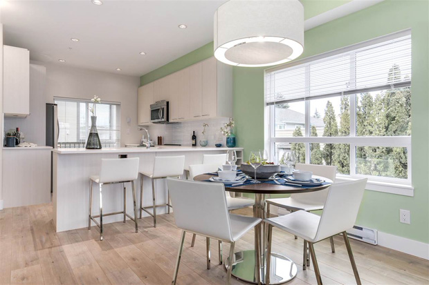 Pacifico townhomes in Burnaby